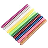 10Pcs Glitter Hot Melt Glue Stick for Electric Heating Adhesive Glue Sticks DIY Art Craft Attaching Tools Mixed Colors 7x100mm