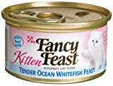 Purina Fancy Feast Kitten Tender Ocean Whitefish Feast Cat Food - (24) 3 oz. Pull-top Can