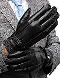 Winter Leather Gloves for Men, with 3M Thinsulate Insulation Full-Hand...