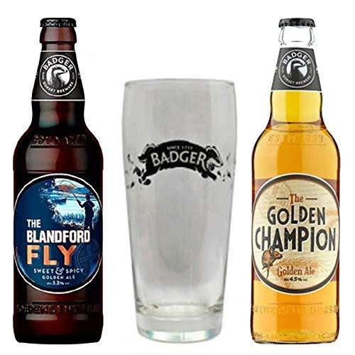 Cervejas Badger contendo Rótulos Copo