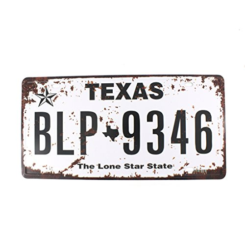 6x12 Inches Vintage Feel Rustic Home,bathroom and Bar Wall Decor Car Vehicle License Plate Souvenir Metal Tin Sign Plaque (TEXAS (Halloween College Stories)
