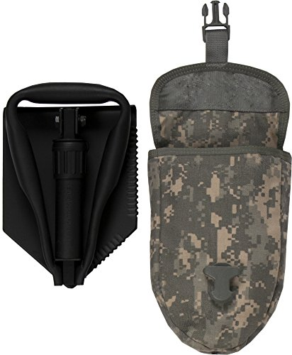 US Military Original Issue E-Tool Entrenching Shovel with ACU OR MultiCam Carrying Case / Pouch by USGI (Image #1)