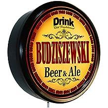 BUDZISZEWSKI Beer and Ale Cerveza Lighted Wall Sign