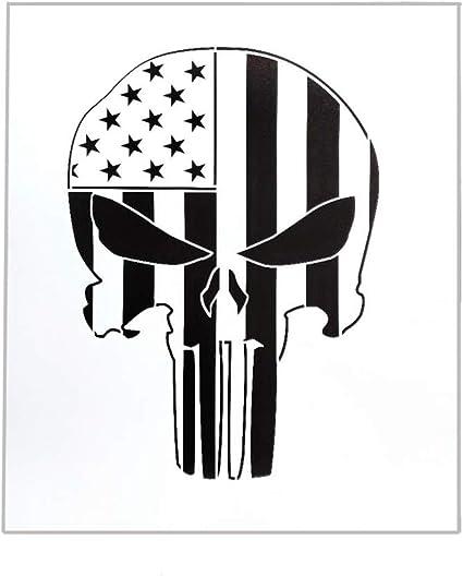 Amazon.com: OBUY American Punisher - Plantilla de calavera ...