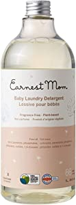 Earnest Mom - Baby Laundry Detergent Sensitive Skin Formula (34 Oz Container) | Wash The Whole Family's Clothes | Newborn, Infant & Toddler Safe Cleaner | Effective at Getting Rid of Tough Stains