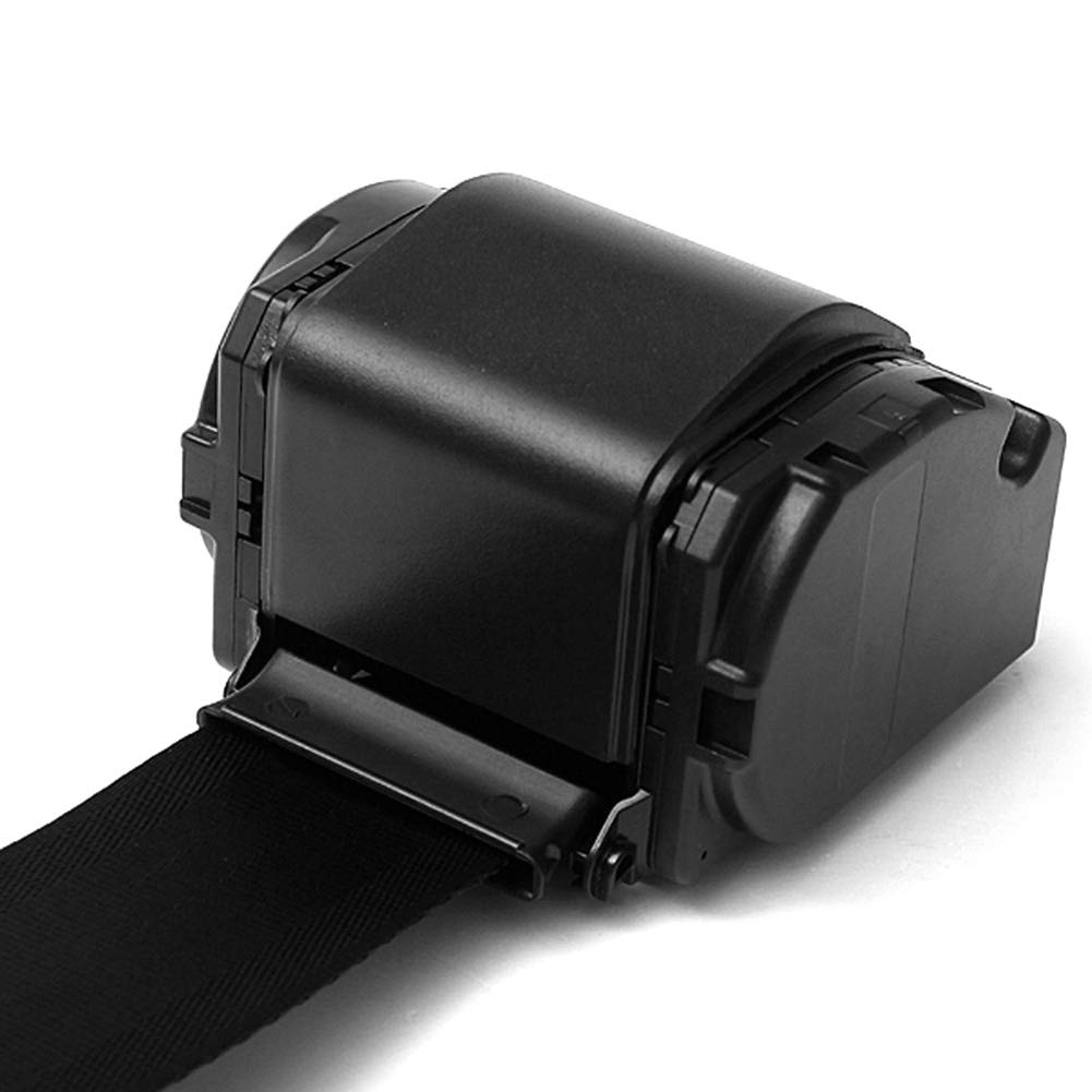 CviAn Set Black Car Auto Vehicle Adjustable Retractable 3 Point Safety Seat Belt Straps Car Seat Belt Adjuster Adjustable Safety Strap