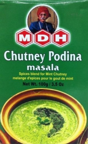 Aromatic Indian Dishes (Chutney Podina(Mint) Masala Pudhina, Indian Spices Mix (100G) by MDH)