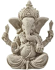 HEALIFTY Elephant Statue Sculpture Ganesha Sandstone Ganesha Buddha Handmade Figurine for Home Decoration Crafts Gifts