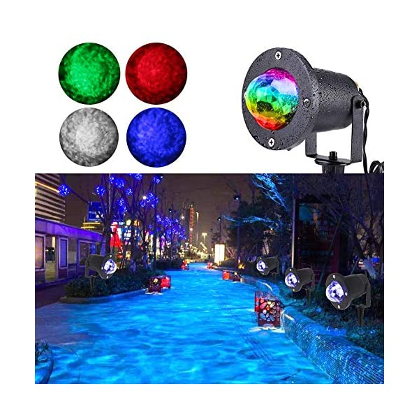 Home Garden Outdoor Indoor Decorative Ocean Wave Night Projector Light