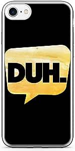iPhone 7 Transparent Edge Phone Case Internet Phone Case Duh iPhone 7 Cover with Transparent Frame
