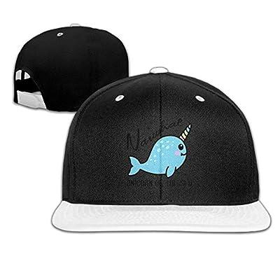 Rock Punk Trucker Hat Narwhal is Unicorn of The Sea Unisex Baseball Cap Hip-hop Snapback White