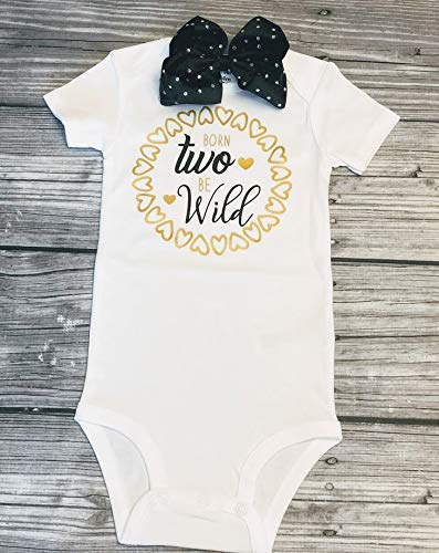 e9327a8d two wild - birthday bodysuit - birthday shirt - 2nd birthday shirt girl - birthday  shirt