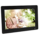 Apeman 10-Inch HD Digital Photo Frame Picture Music Video MP3 MP4 Player High Resolution Calender Date Display Motion Sensor with Remote Control