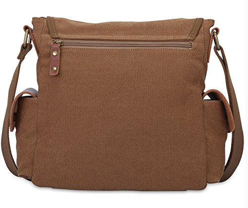 Men Canvas Satchel Diagonal Coffee Crossbody Otomoll Business Retro Korean Casual Bag Bangalor Shoulder wngqI48g