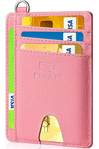 FurArt Slim Minimalist Wallet, RFID Blocking, Front Pocket Leather Wallets, Credit Card Holer for Men Women
