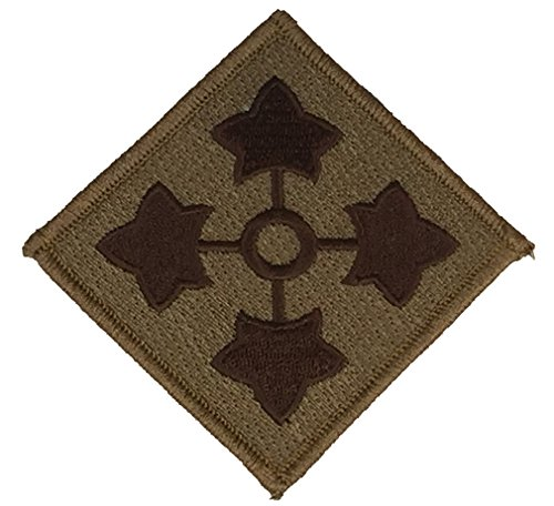 4th Id Patch (US ARMY 4TH INFANTRY DIVISION UNIT PATCH - Desert/Tan - Veteran Owned)
