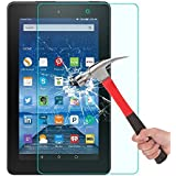 2017 Amazon Fire HD 8 Glass Screen Protector Premium HD Tempered Glass Film for Amazon Fire HD 8 Tablet [Crystal Clear] [9H Hardness] [Bubble Free]