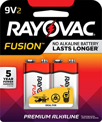 Rayovac Fusion Premium Alkaline, 9V Batteries, 2 Count
