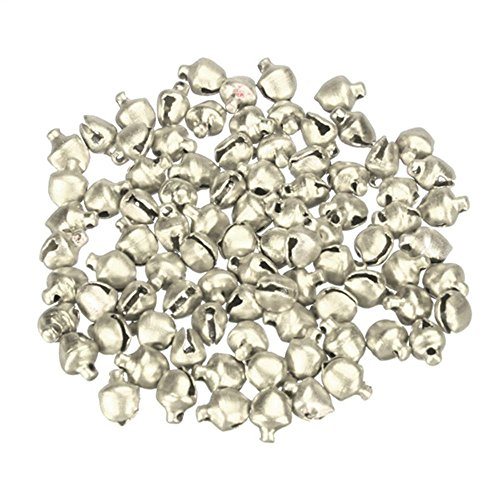 Silver Beads Bell - EORTA 500 Pieces Craft Bells Small/Mini Jingle Bells Loose Beads Bell Ornament for Art Festival Christmas Decoration Handmade DIY, 6mm, Silver