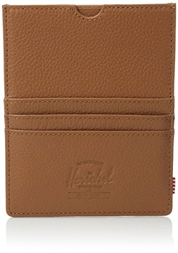 - Herschel Supply Co. Eugene Passport Holder, Tan Pebbled Leather, One Size