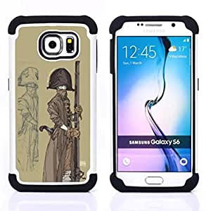 For Samsung Galaxy S6 G9200 - PIRATE SAILOR SHIP HAT GUN BOAT ART PAINTING Dual Layer caso de Shell HUELGA Impacto pata de cabra con im??genes gr??ficas Steam - Funny Shop -