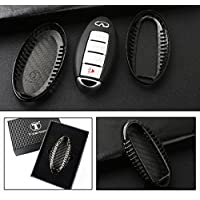 LUXURY REAL CARBON FIBER SNAP ON CASE FOR INFINITI MODELS KEY KEYLESS FOB REMOTE-Q50 Q70 Q60 G37 G35 QX FX