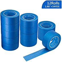 """12 Rolls 2"""" (1.88""""/48mm) X 54 YDs Pro-Grade Blue Painters Tape, Medium Adhesive That Sticks Well but Leaves no Residue Behind by KIWIHUB"""