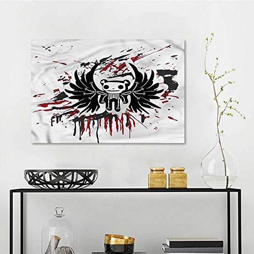 one1love Halloween Original Oil Painting Comic Dead Skull Face Office Art Decoration W31 xL23]()