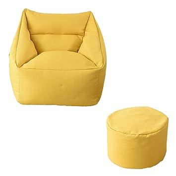 MIMI KING Silla Tipo puf con reposapiés, sofá de Gran tamaño ...