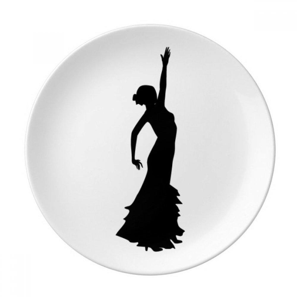 Folk Dance Performance Dancer Dessert Plate Decorative Porcelain 8 inch Dinner Home