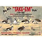 real-geese pro series ii canada goose silhouette decoys