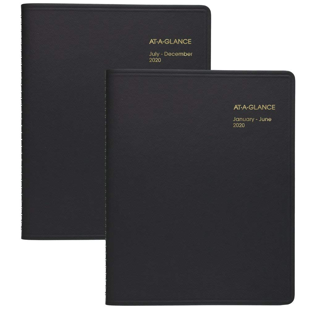 AT-A-GLANCE 2020 Daily Appointment Book, 8-1/2'' x 11'', Large, Eight Person Group Planner, 2 Books (7021280)