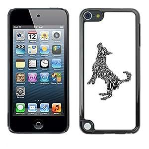 Vortex Accessory Carcasa Protectora Para Apple Ipod Touch 5 - Happy Dog Art Print Minimalist White -