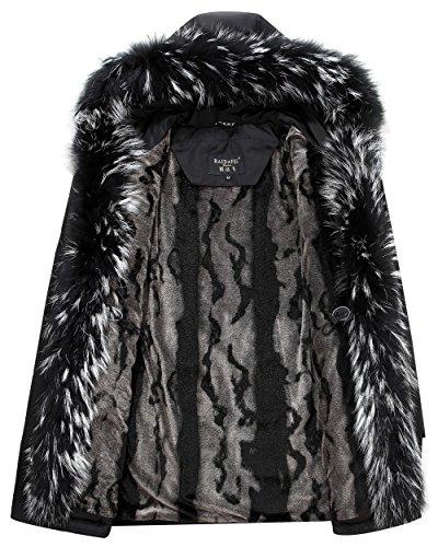 Blanc Mode Jiinn Épais Fourrure Blouson Jacket Couple Armée Duvet Fur Hommes Cachemire Raccoon Fr8896 Hiver Canard Manteau Verte Collar American Vestes Parka Rex In8Aqnrx