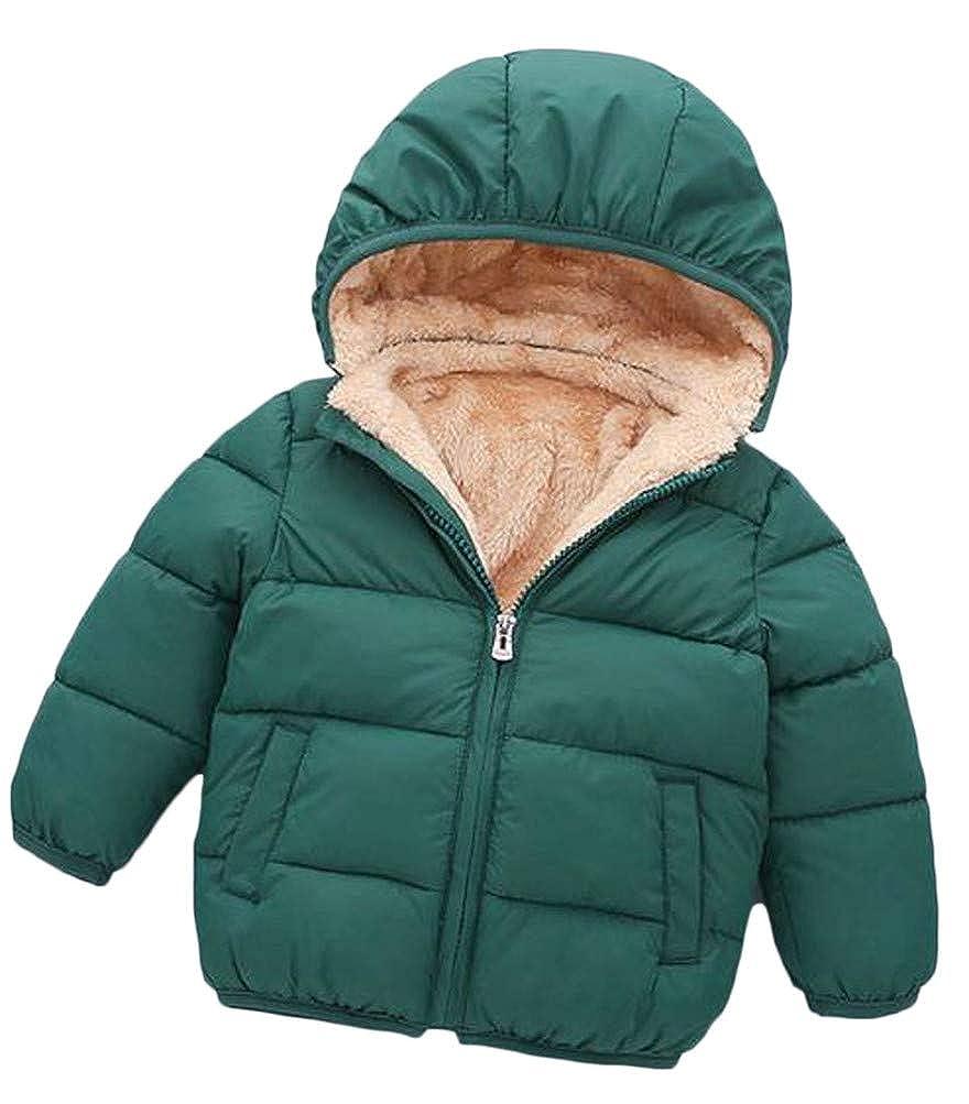 Lutratocro Girl Quilted Hoodid Zip Fleece Padded Pocket Casual Jacket Parka Coat