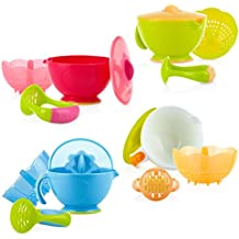 Nuby Garden Fresh Steam N' Mash Baby Food Prep Bowl and Food Masher, Colors...