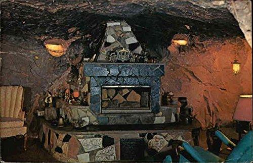 World Famous Hole N the Rock Home – Fireplace Moab, Utah Original Vintage Postcard