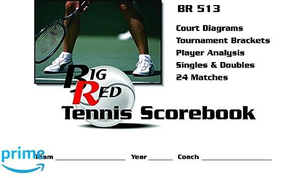 Amazon.com : Big Red Tennis Scorebook : Sports & Outdoors