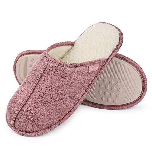 EverFoams Herren Damen Klassische Memory Foam Hausschuhe, Atmungsaktive Frottee Pantoffeln