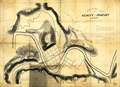1863 Civil War map Fortification, Kentucky, Frankfort Military of the vicinity o
