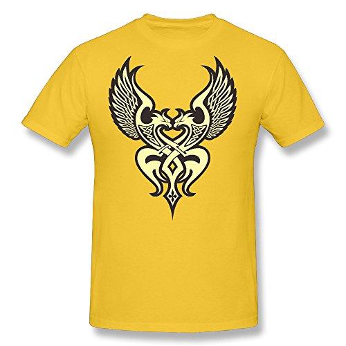 - Ramalhorich Mens Two Birds T Shirt Gold