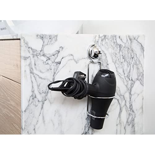 FECA FE-B1005 Stainless Steel Hair Dryer Holder Holster Organizer with No Drilling Wall Mount Mountable Powerful Suction Cup hot sale