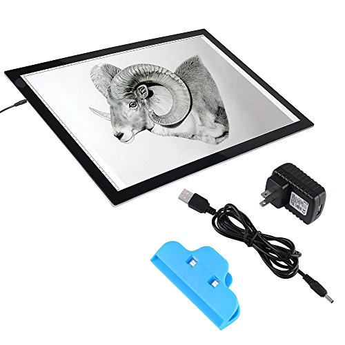 A2 LED Tracing Light Box Stencil Drawing Board Pattern Art Design Light Pad(US plug) by Walfront
