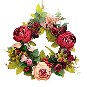 SIncek Decorative Seasonal Front Door Wreath Best Seller - Handcrafted Wreath for Outdoor Display in Fall, Winter, Spring, and Summer 30