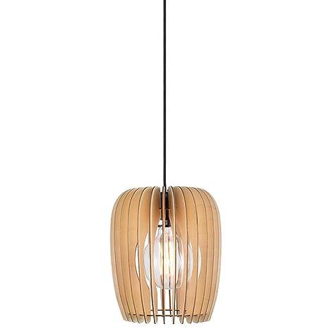 Nordlux 46423014 Tribeca 24 - Lámpara de techo (madera natural, no ...