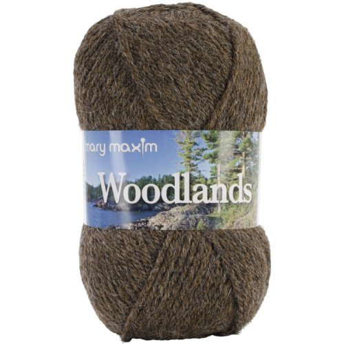 Mary Maxim Woodlands Yarn, Brown Heather