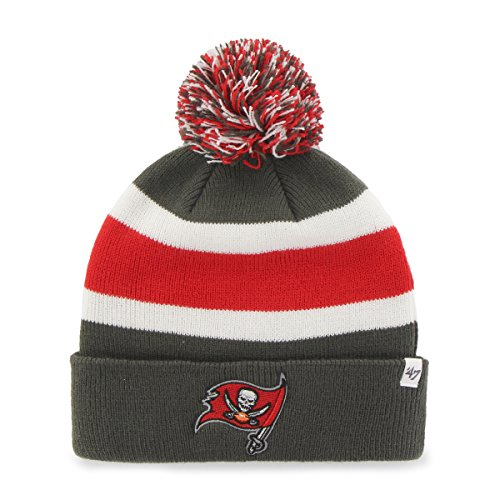 '47 NFL Tampa Bay Buccaneers Breakaway Cuff Knit Hat, One Size Fits Most, Graphite