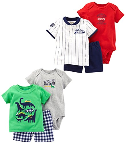 7a970e333041 Galleon - Carter s Baby Boys  6-Piece Bodysuit Tee And Short Set ...