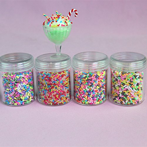4Colorful Styrofoam Sugar Sprinkles Decorative Slime DIY