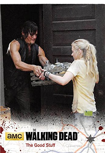 Daryl and Beth trading card Walking Dead 2016 #54104 Emily Kinney Norman Reedus from Autograph Warehouse